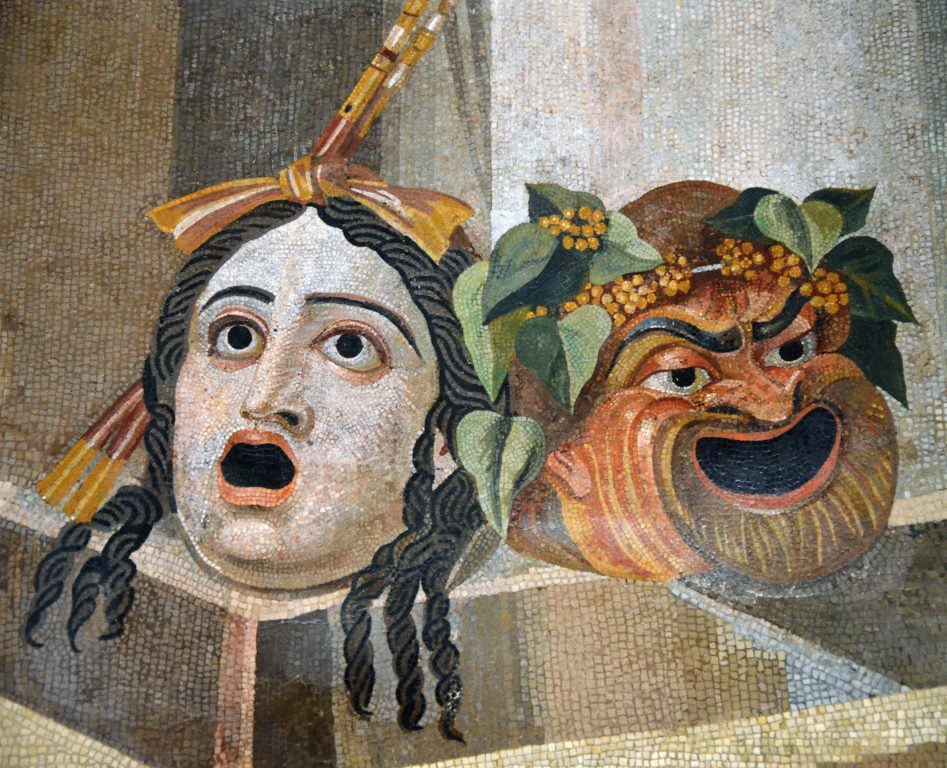(Mosaic_depicting_theatrical_masks_of_Tragedy_and_Comedy_(Thermae_Decianae))